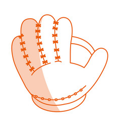 Monocromatic baseball glove design vector