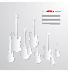 Music Background Guitars Made from Paper vector image vector image