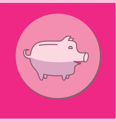 Piggy bank or money box vector