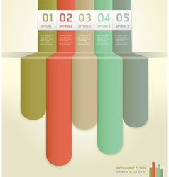 Retro colorful number options banner template vector image vector image