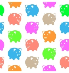 Seamless pattern with colorful pigs vector image vector image