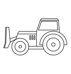 Skid steer loader icon outline vector