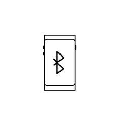 Smartphone bluetooth icon vector