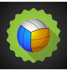Sport ball voleyball flat icon background vector