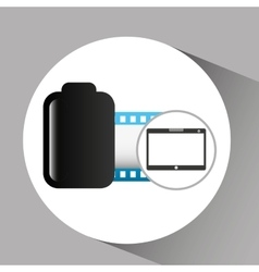 touchpad digital photo roll vector image