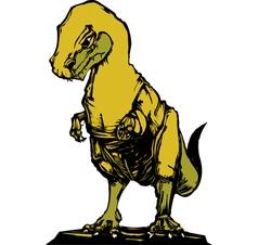 Tyrannosaurus rex c vector