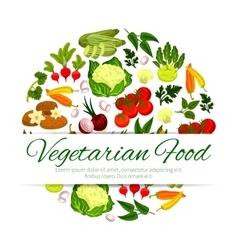 Vegan or vegetarian vegetable food banner vector