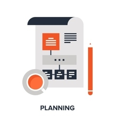 Planning flat concept vector
