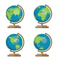 Earth globes icons vector