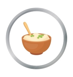 Mashed potatoes icon in cartoon style isolated on vector image