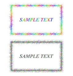 Colorful and black sketch card frame designs vector image