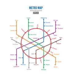 metro map city transportation scheme vector image