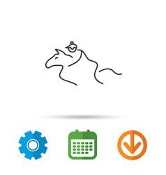 horseback riding icon jockey rider sign vector image