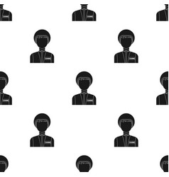 Courier icon in black style isolated on white vector
