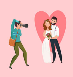 Wedding photographer design concept vector