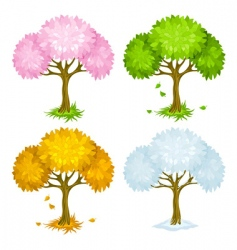 Trees and seasons vector