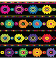 Ethnic colored background vector image