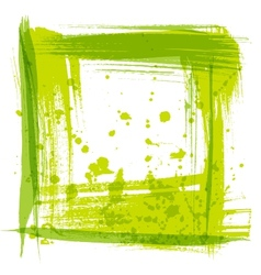 Frame texture strokes and splashes of paint vector