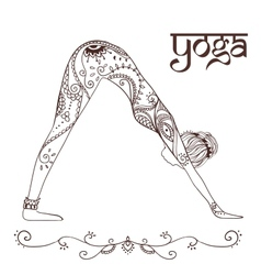 Ornament beautiful card with yoga vector
