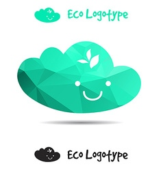 Ecology logo or icon in eps nature logotype air vector