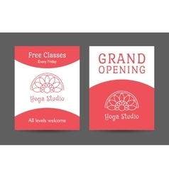 Yoga studio brochure template vector
