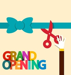 Grand opening flat design retro vector