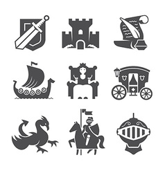 Medieval symbols collection vector