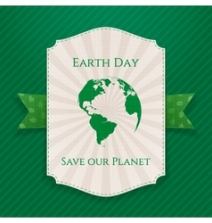 Earth day big paper banner vector
