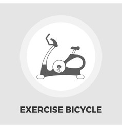 Exercise bicycle flat icon vector