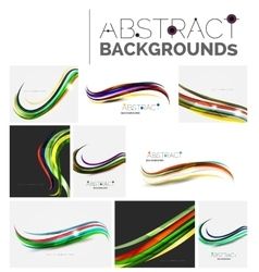 Motion concept abstract background set vector