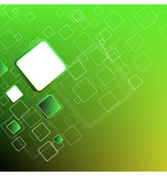 Abstract green sqares background vector image vector image