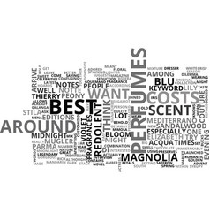 Best perfumes text word cloud concept vector