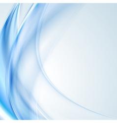 Bright blue wavy design vector image vector image