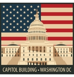 Capitol Building in Washington DC vector image vector image