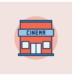 Cinema building flat icon vector
