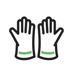 Cleaning gloves vector