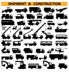 commercial vehicles pictograms vector image