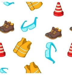Construction pattern cartoon style vector