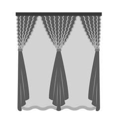 Cornice single icon in monochrome stylecornice vector