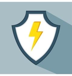 data secure warning protection shield vector image
