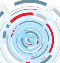 digital escape red vector image vector image