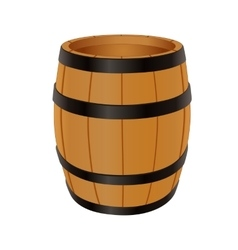Empty wooden barrel vector