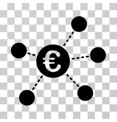 Euro virtual links icon vector