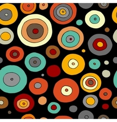 Funny circles colorful seamless pattern for your vector image vector image