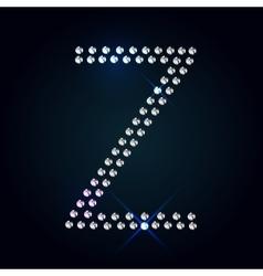 Gems z letter shiny diamond font vector
