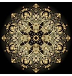 gold round vintage frame vector image vector image
