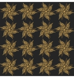 Gold vintage flowers seamless ornament vector image vector image