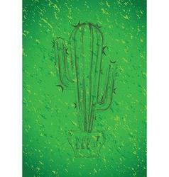 Green cactus vector