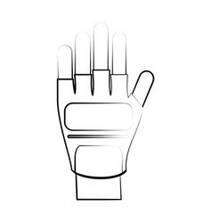 hand wearing gloves icon image vector image vector image