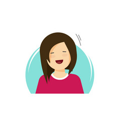 happy girl flat cartoon vector image